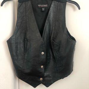 Wilson Leather - Black Button up Vest